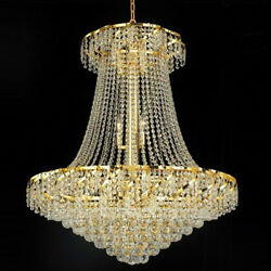 New Crystals Chandelier Belenus 24k Gold Plated 38x30