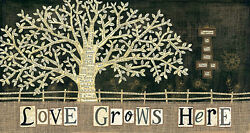 Art Print, Framed Or Plaque By Annie Lapoint - Love Grows Here - Alp1139