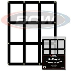 5 BCW 9 Baseball Trading Card Screwdown Holders w Black Border frame protector
