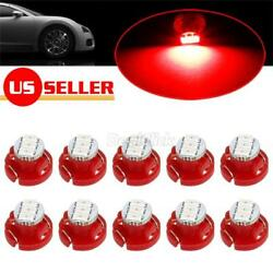 10x Red T4/T4.2 Neo-Wedge LED Bulb for Radio Climate Control Panel Lights