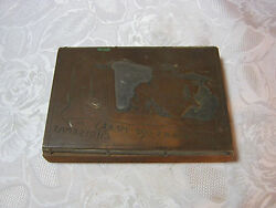 Old Printing Plate Block Same Old Crap Merry Christmas Santa And Outhouse T