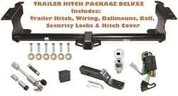 Trailer Hitch For 99-04 Honda Odyssey Pkg Deluxe W/ Wiring + Combo Locks And Cover