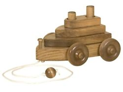 Boat Pull Toy - Wood Toy And Stacking Hand-eye Coordination Blocks Amish Handmade