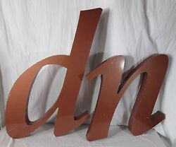 Large Vintage 44 Tall Aluminum Bronze Colored Letters D,n