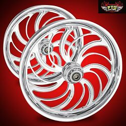Ftd Customs Harley Davidson Chrome Wheel And Tire Package Creeper