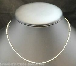 9ct Yellow Gold Necklace Chain Or Pendant Barleycorn 16 18 20 Inch 1.4mm Wide