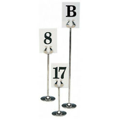 10 X Stainless Steel Wedding Table Number Stands / Menu Holders / Photo Holders