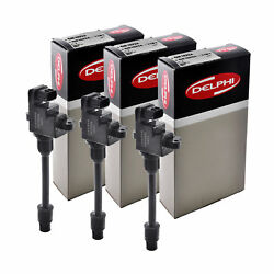Set Of 3 Delphi Ignition Coil Gn10224 For Infiniti Nissan I30 Maxima 95-99