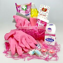 Mrs Hinch Hamper Cleaning Gift - Pink Stuff Neutradol Large New Home Christmas