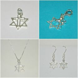 Lots Sterling Silver 925 Messianic Jewelry Charms Clip On Necklaces Earrings
