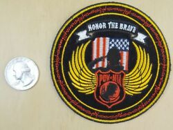 Honor The Brave - Mia - Salute Sew-on Iron-on Embroidered Patch 3.5 X 3.5