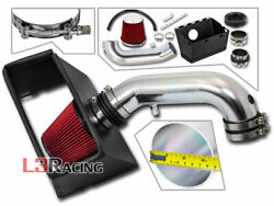 Red Heat Shield Intake Kit For 09-18 Dodge Ram 1500 2500 And 13-18 3500 5.7l V8