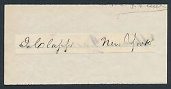 1870and039s-1880and039s John Clapp Vintage Baseball Star Autograph D. 1904
