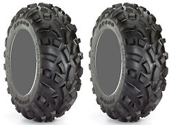 Pair 2 Carlisle AT489 22x11-10 ATV Tire Set 22x11x10 489 AT 22-11-10