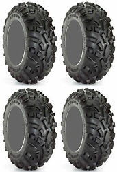 Four 4 Carlisle AT489 ATV Tires Set 2 Front 23x7-10 & 2 Rear 22x11-10 489 AT