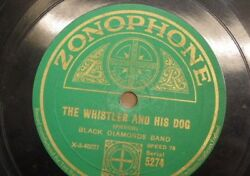 78 Rpm Black Diamonds Band The Whistler And His Dog / In A Clockmakers Shop