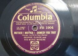 78 rpm GEORGE ELRICK mother mother  wedding of pocahontas