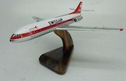 Sud Aviation Se 210 Caravelle Swissair Aircraft Wood Model Replica Free Shipping