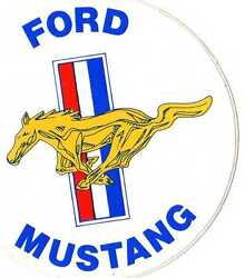 Ford Oem Vintage Out Of Production Ford Mustang Decal M-1820-f2