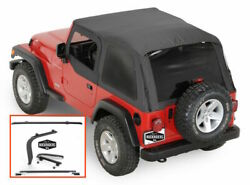 1997-2006 Jeep Wrangler Frameless Bowless Soft Top With Hardware Install Kit