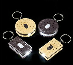 WHOLESALE LOT OF 144 COOKIE  FLASHLIGHT LED KEY CHAINS BATTERIES INCLUDED HOT!  $46.88