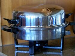 Webalco Electric Skillet And Dome Cover Stainless Steel Homemakers Guild America