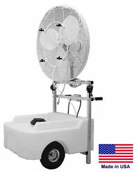 30 Misting Fan - Cart Mounted - 7090 Cfm - 120 Volts - 1/3 Hp - 22 Gallons