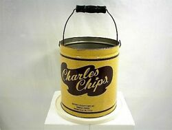 Vintage Potato Chip Can Tin Charles Chips Musser`s Mountville Pa Food Kitchen