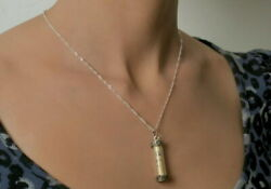 Mezuzah Pendant Necklace Hebrew Jewish Prayer On Parchment Scroll Made In Israel