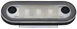 New Santiago 3-led Oval Accent Courtesy Light Aqua Signal 16420-7 Cover Stainles