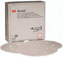 New Hookit Dust-free Finishing Film Disc 260l 3m Marine 01083 Grade P80 6