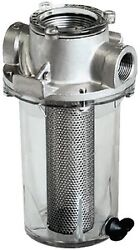 New Arg Raw Water Strainer Groco Arg-3000-s Ports 3 Npt Basket Stainless 19.8