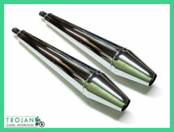 Muffler And039whistlersand039 For For Triumph 750 Tr7 T140 T150 T160 Pair Exh0088