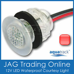 Red Led Livewell Bait Tank Light/courtesy Lamp - Boat/caravan/stair/step/accent