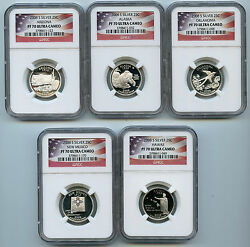 2008 S 5 Silver State Quarter Ngc Pf70 Graded Ucam Proof Coin 25 Cent Set F2