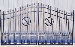 Includes The Post Package Steel Iron Driveway Entry Gate 12and039 Wd Ds Residential