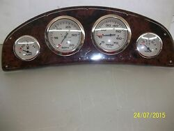 Gauge Panel With Faux Walnut Look Finish