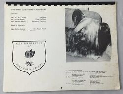 Skye Terrier Club of Fort Worth Dallas 1975 Vintage Dog Calendar