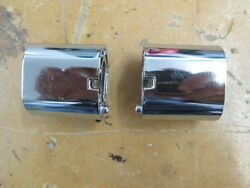 Vintage Early 70and039s Yamaha Turn Signal Stem Spacer Extension Set Pair 1.5x1.5