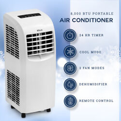 8000 BTU Portable Air Conditioner Dehumidifier Cooling AC Unit Function Remote