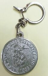 Greece Olympic Airlines Old Metal Medal 1966 /plane / Badge / Embleme / Keychain