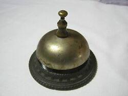 Antique Front Desk Hotel Shop Keepers Counter Bell   T