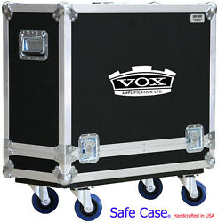 ATA Safe Case Vox Custom AC30C2 30W 2x12 AC30 C2 W KEY LOCK LATCHES AND LOGO