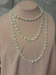 Vintage Super Rare Signed Sarah Coventry Celluloid Old Plastic Flowers Necklace