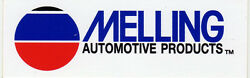 2 Vintage Ford Melling Automotive Products Race Car Decal, Decals 3.75x1.25