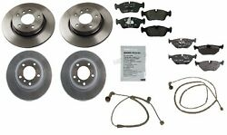 For Bmw E46 328ifront Brake Anti-squeal Paste Pad Wear Sensor And Rotors Oem