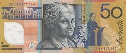 1995 Australia 50 Fifty Dollars Fraser/evans Uncirculated Note Kd 95357260