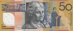 1995 Australia 50 Fifty Dollars Fraser/evans Uncirculated Note Hg 95598037