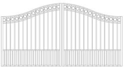 Custom Built Steel Driveway Entry Gate 12ft Wd Dual Fencing Iron Residential