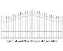 Home Security Steel Driveway Entry Gate 14and039 Wide Residential Veterans Discount